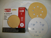 "5"" 8 Hole Stick On Sanding Discs 50 pack 150 Grit PC #725801550"