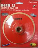 """6"""" x 5/16"""" Sponge Pad Kit Hook & Loop Keen Abrasives #76498 - Lot of 1"""
