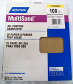 9x11 Sand Paper Norton MultiSand 100 Grit 25ct