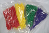 """6"""" Tear-Away Cable Zip Tie Tote Saver Easy Off Release, Lot of 100"""