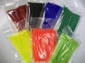 "4"" Nylon Cable Zip Tie 18 lb 100 Count, Your Choice of Color"
