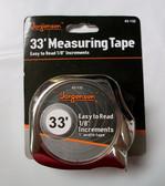 "33' English Tape Measure, 1"" Blade, Jorgensen, Lot of 1"