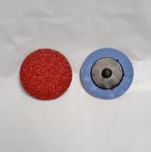 "2"" Sandpaper Roloc Discs, 24 Grit, A/O Type R, Gemtex, 25 pack"