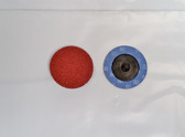 "2"" Sandpaper Roloc Discs, 80 Grit, A/O Type R, Gemtex, 100 pack"
