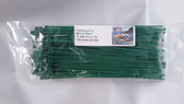 "8"" Dark Green Nylon Cable Zip Ties 40LB. USA MADE, 100pk co"
