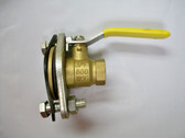 "3/4"" NPT Flanged Ball Valve, Brass Body, Lead Free, Lot of 2 Valves, FREE SHIPPING"