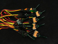 10 PACK ILLUMINATED ON OFF TOGGLE SWITCH GREEN PRE WIRED 12 VOLT 20 AMP IBITSG