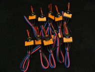 10 PACK ILLUMINATED ON OFF TOGGLE SWITCH AMBER PRE WIRED 12 VOLT 20 AMP IBITSA