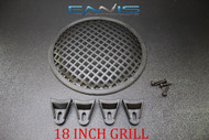 (1) 18 INCH STEEL SPEAKER SUB SUBWOOFER GRILL MESH COVER W/ CLIPS SCREWS GR-18