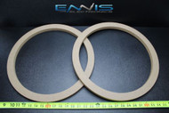 2 MDF SPEAKER RING SPACER 15 INCH WOOD 3/4 THICK FIBERGLASS BOX ENCLOSE RING-15R