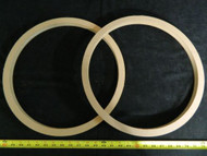 2 MDF SPEAKER RING SPACER 15 INCH WOOD 1/2 THICK FIBERGLASS BOX ENCLOSURE PORT