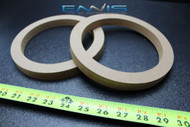 2 MDF SPEAKER RINGS SPACER 6.5 INCH WOOD 3/4 THICK FIBERGLASS BOX RING-6.5R
