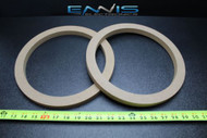 2 MDF SPEAKER RINGS SPACER 10 INCH WOOD 3/4 THICK FIBERGLASS BOX EE-RING-10R