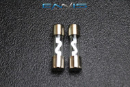 2 PACK 15 AMP AGU FUSE FUSES NICKEL PLATED INLINE HIGH QUALITY GLASS NEW AGU15