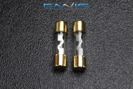 2 PACK 80 AMP AGU FUSE FUSES GOLD PLATED INLINE HIGH QUALITY GLASS NEW AGU80