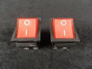 2 PACK ROCKER SWITCH RED LED DPST ON OFF 15 AMP 250 V 20 AMP 125 V 6 PIN EC-620