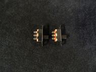 2 PACK PCS SPDT ON-ON MINI SLIDE SWITCH 125V AC 3 AMP 3 PIN TOGGLE AR-110