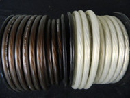 0 GAUGE WIRE 10 FT 5 BLACK 5 SILVER SUPERFLEX 1/0 AWG POWER GROUND STRANDED