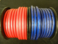0 GAUGE WIRE 10 FT 5 RED 5 BLUE SUPERFLEX 1/0 AWG POWER GROUND CABLE STRANDED