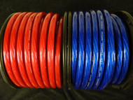 0 GAUGE WIRE 10 FT 5 RED 5 BLUE 1/0 AWG POWER GROUND CABLE STRANDED CAR