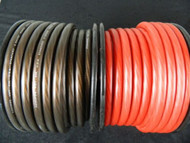 0 GAUGE WIRE 10 FT 5 RED 5 BLACK SUPERFLEX 1/0 AWG POWER GROUND CABLE STRANDED