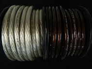 0 GAUGE WIRE 10 FT 5 BLACK 5 SILVER 1/0 AWG POWER GROUND STRANDED AUTOMOTIVE