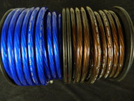 0 GAUGE WIRE 10 FT 5 BLACK 5 BLUE 1/0 AWG POWER GROUND CABLE STRANDED CAR