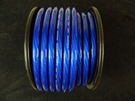 0 GAUGE WIRE 10 FT BLUE 1/0 AWG POWER GROUND CABLE STRANDED AUTOMOTIVE CAR