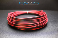 22 GAUGE 10 FT RED BLACK ZIP WIRE AWG CABLE POWER GROUND STRANDED COPPER CLAD EE