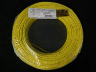 22 GAUGE 2 CONDUCTOR 100 FT YELLOW ALARM WIRE SOLID COPPER HOME SECURITY CABLE