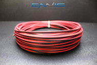 22 GAUGE 50 FT RED BLACK SPEAKER WIRE AWG CABLE POWER STRANDED COPPER CLAD EE