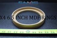 4 MDF SPEAKER RING SPACER 6.5BZ BEZEL INCH WOOD 3/4 THICK FIBERGLASS RING-6.5BZ