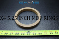 4 MDF SPEAKER RING SPACER 5.25 IN WOOD 3/4 THICK FIBERGLASS EE-RING-5.25RX4