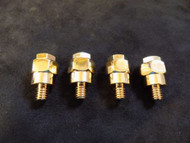 4 PCS BATTERY SIDE POST ADAPTER GOLD POSITIVE NEGATIVE SYSTEM CONNECTOR BT305