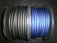 6 GAUGE AWG WIRE CABLE 100 FT 50 BLACK 50 BLUE POWER GROUND STRANDED PRIMARY