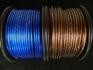8 GAUGE WIRE 10 FT 5 BLACK 5 BLUE AWG CABLE POWER GROUND STRANDED PRIMARY AMP