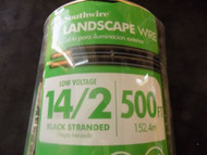 LANDSCAPE WIRE 15 FT SOUTHWIRE 14/2 BLACK STRANDED 100% COPPER OUTDOOR LIGHTING
