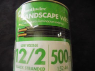 LANDSCAPE WIRE 25 FT SOUTHWIRE 12/2 BLACK STRANDED 100% COPPER OUTDOOR LIGHTING