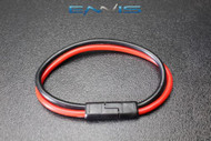 (1) 10 GAUGE QUICK DISCONNECT 2 PIN 10'' LEAD POLARIZED WIRE HARNESS AQK-12-10BG