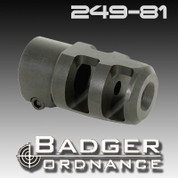 Badger Ordnance 249-81: Mini FTE Muzzle Brake, Clamp-Style 5/8-24 Thread for .22
