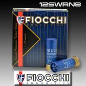 """Fiocchi 12SWRN8: Super White Rino 2-3/4"""" #8 Lead"""