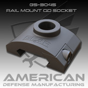 American Defense GS-3045: Rail Mount QD Socket Black