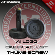Accuracy International AI-20333: AI Logo Replacement/Upgrade Cheek Piece Thumb Screw