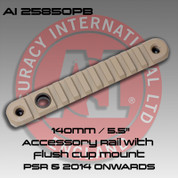 "Accuracy International: 140mm / 5.5"" accessory rail with flush cup mount Pale Brown"