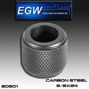 EGW EGW T-PRO 5/8: Thread Protector Carbon Steel 5/8 x 24 - Blued Finish