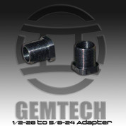 Gemtech Adapter: 1/2-28 to 5/8-24 Adapter
