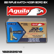 Aguila 1B222518: .22 Rifle Match 40gr 50/Box