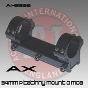 Accuracy International AI-6936: 34mm Mount-40mm Picatinny (0/moa)*Free Shipping*