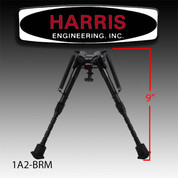 "Harris 1A2-BRM: Bipod Leg Notch Sling Swivel Stud Mount 6"" to 9"" Black"