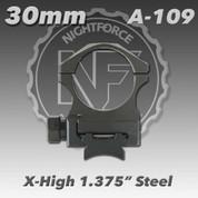 "Nightforce A109: 1.375"" X-High 30mm Steel Rings"